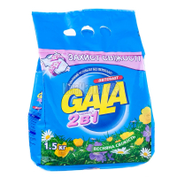"""Пральний порошок Gala 2в1 """"Весняна свіжість"""" Автомат, 1,5 кг"""