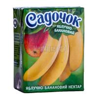 Нектар Садочок яблучно-банановий 0,2л х27