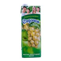 Сік Садочок Яблучно-виноградний 1,45л х8