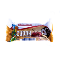 Сирок Фаннi глазурований печиво вишня 15% 50г х40