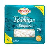 Сир President Творожна Традиція кисломол. 5% 450г