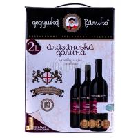 Вино Дідусь Валіко Алазанська долина чер. напівсолодке 2л х6