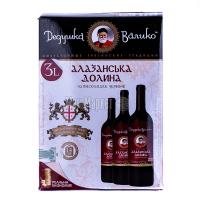 Вино Дідусь Валіко Алазанська Долина черв.напівсол.B&B 3л х2