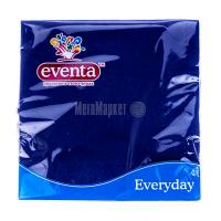 Серветки паперові столові Eventa Everyday Сині, 20 шт.