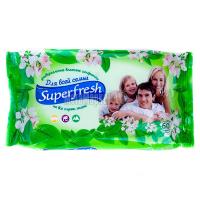 Серветки вологі гігієнічні Superfresh Універсальні, 60 шт.