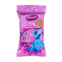 Дитячі серветки вологі гігієнічні Smile Disney, 15 шт.
