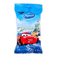 Дитячі вологі серветки Smile Cars, 15 шт.