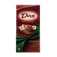 Шоколад Dove молочний з фундуком 100г х20
