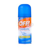 Засіб від комарів Johnson Off! Smooth & dry 100мл х12