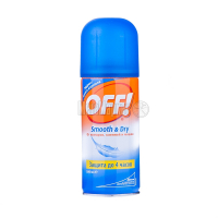 Аерозоль від комарів, ґедзів, мошок Off! Smooth & Dry, 100 мл