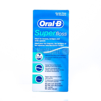 Зубна нитка для брекет-систем та протезів Oral-B Super Floss, 50 ниток