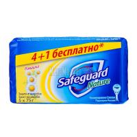 Мило антибактеріальне тверде Safeguard Nature Ромашка, 5 шт.*75 г