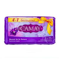 Мило туалетне тверде Camay Beaute de la Nature, 5 шт.*75 г