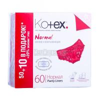 Щоденні гігієнічні прокладки Kotex Normal, 60 шт.