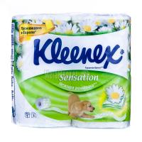 Туалетний папір Kleenex Sensation Ніжна ромашка 4шт х6
