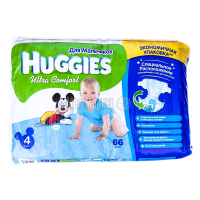 Підгузки Huggies Ultra Comfort д/хлопчиків 4 8-14кг 66шт. х6