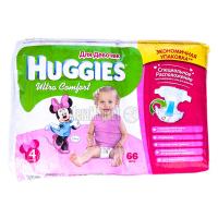 Підгузки Huggies Ultra Comfort д/дівчаток 4 8-14кг 66шт х6