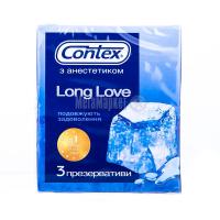 Презервативи латексні з анестетиком Contex Long Love, 3 шт.