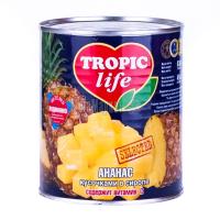 Ананас Tropic life шматочками у сиропі 850мл