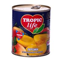 Персики Tropic life половинки 850мл
