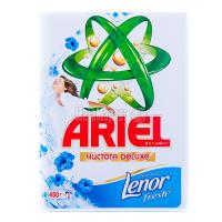 Пральний порошок Ariel Чистота DeLuxe+ Lenor fresh Automat, 450 г