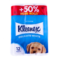 Туалетний папір Kleenex Delicate White, 12 шт.