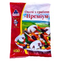 Овочі Рудь Преміум з грибами заморожені 400г