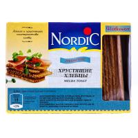 Хлібці Nordic хрусткі зі злаків Пшеничні 100г  х6