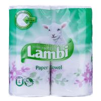 Рушники паперові рулонні Lambi Soft & Absorbent Білі, 2 шт.