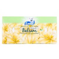 Серветки паперові косметичні Lambi Balsam Білі, 80 шт.
