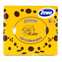 Серветки косметичні паперові Zewa Kids 3D Box Soft & Delicate, 60 шт.