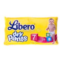Підгузники-трусики Libero dry pants 7 16-26кг 28шт
