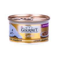 Корм Gourmet Gold для котів Качка і індичка 85гх6