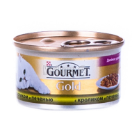 Корм Gourmet Gold для котів Кролик і печінка 85гх6
