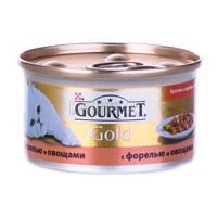Корм Gourmet Gold для котів Форель з овочами 85гх6