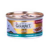Корм Gourmet Gold для котів Лосось з курчам 85гх6