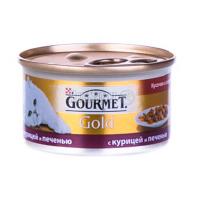 Корм Gourmet Gold для котів ШмСоусКрк&Пч 85гх6