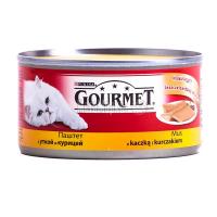 Корм Gourmet Паштет з качкою та куркою 195г х24