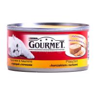 Корм Gourmet Gold для котів Курка та нирки 195г х6