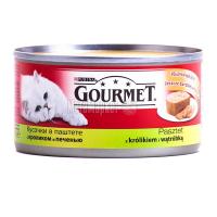 Корм Gourmet Gold для котів Кролик та печінка 195г х6