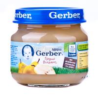 Пюре Gerber груші Вільямс 80г х6