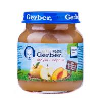 Пюре Nestle Gerber Яблуко і персик 130г х12
