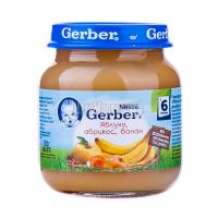 Пюре Gerber яблуко, абрикос, банан 130г х12