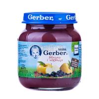 Пюре Gerber яблуко і чорниця 130г х12