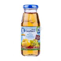 Сік Gerber яблучно-виноградний з шипшиною 175мл х6