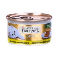 Корм Gourmet Gold для котів з кроликом по-франц. 85г х6