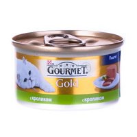 Корм Gourmet Gold для котів з кроликом 85г х6