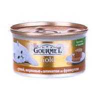 Корм Gourmet Gold для котів качка, морква і шпинат 85г х6