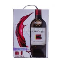 Вино Gato Negro San Pedro Cabernet Sauvignon Каберне Совіньйон червоне сухе 13.5% 3л в коробці 4шт*0,75л