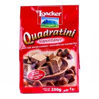 Вафлі Loacker Quadrdtini Napolitaner горіх 250г х12